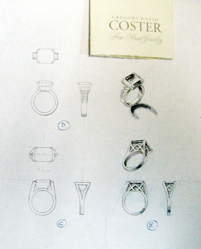 Gregory David Coster Jewels Designer Jewels Design Drawing